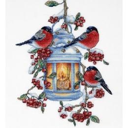 Набор для вышивки крестом - Алисена - Снегири 1275а