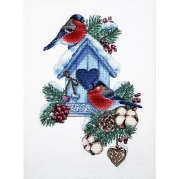Набор для вышивки крестом - Алисена - Снегири 1283а