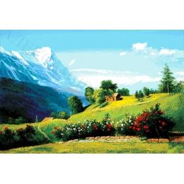Авторский набор для вышивки бисером - Токарева А. - Альпийский пейзаж 46-4187-НА