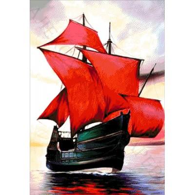 Алые паруса - Токарева А. - авторский набор для вышивки бисером