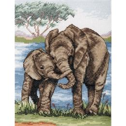 Elephants - Anchor - набор для вышивки крестом
