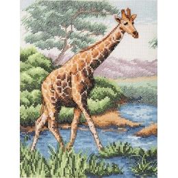 Giraffe - Anchor - набор вышивки крестом
