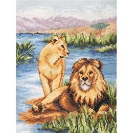 Lions - Anchor - набор для вышивки крестом