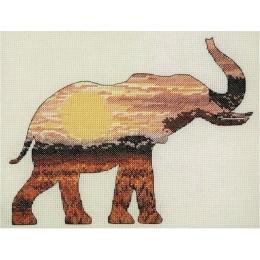 Elephant Silhouette - Anchor MAIA - набор для вышивки крестом