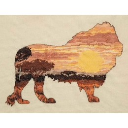 Lion Silhouette - Anchor MAIA - набор для вышивки крестом