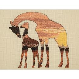 Giraffe Silhouette - Anchor MAIA - набор для вышивки крестом
