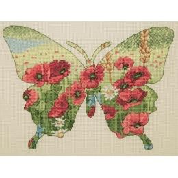 Набор для вышивки крестом - Anchor MAIA - 05044 Butterfly Silhouette
