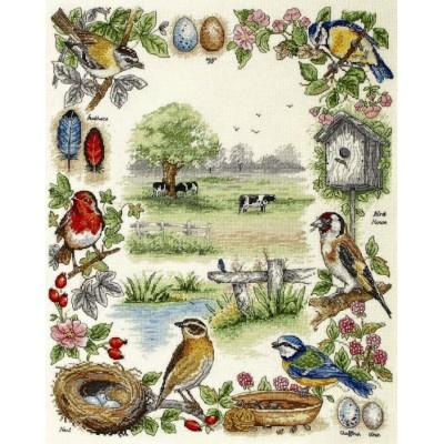 Birds Sampler/Лесные птицы - Anchor - набор вышивки крестом