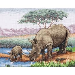Rhinos - Anchor - набор вышивки крестом