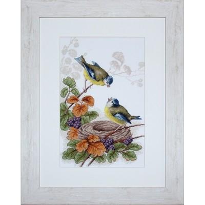 Птички у гнезда - Luca-S - набор вышивки крестом