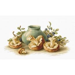 Натюрморт с грибами B2247 - Luca-S - набор вышивки крестом