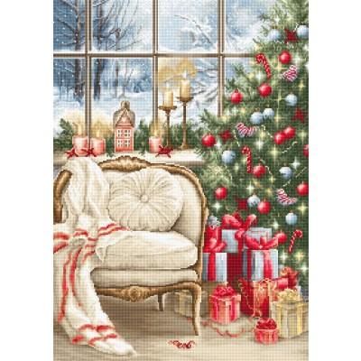 Набор для вышивки крестом Рождественский дизайн интерьера B599, Luca-S