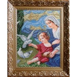 Богородица и голуби (мини) - БС Солес - набор для вышивки бисером икон