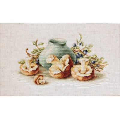 Натюрморт с грибами BL2247 - Luca-S - набор вышивки крестом