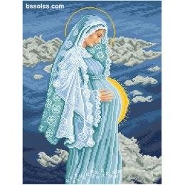 Набор для вышивка бисером икон - БС Солес - Божий младенец в утробе Девы Марии