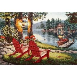 Отдых на озере - Classic Design - набор для вышивки крестом