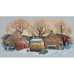 Зима на ферме - Classic Design - набор для вышивки крестом