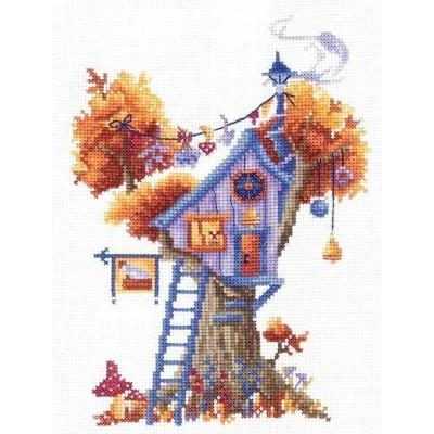 Набор для вышивки крестом - Сделай Своими Руками - Домики на дереве. Загадочный