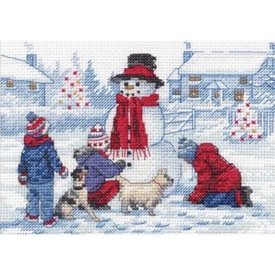 Набор для вышивания крестом - Dimensions - 70-08993 Building A Snowman