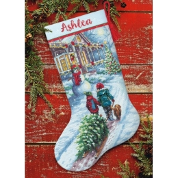 Набор для вышивания крестом - Dimensions - 70-08995 Christmas Tradition Stocking