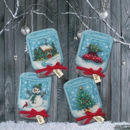 Набор для вышивания крестом - Dimensions - 70-08997 Vintage Jar Ornaments