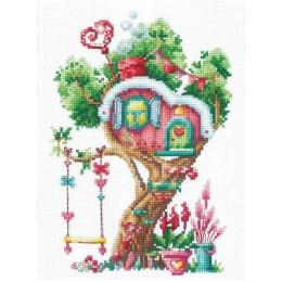 Дома на деревьях. Сладкий - Сделай Своими Руками - набор вышивки крестом