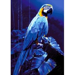 Голубой ара - Токарева А. - авторский набор вышивки бисером