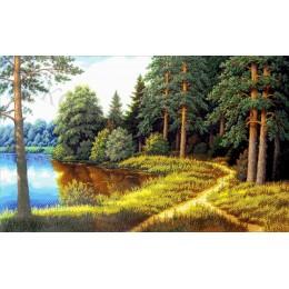 Хвойный лес - Токарева А. - авторский набор вышивки бисером