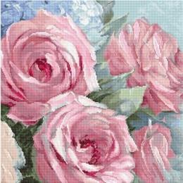 Бледно-розовые розы - LETISTITCH - набор для вышивки крестом