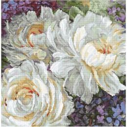 Белые розы - LETISTITCH - набор для вышивки крестом
