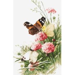 Butterflies in the field / Бабочки в поле - LETISTITCH - набор для вышивки крестом