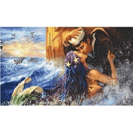 Mermaid kiss / Поцелуй русалки - LETISTITCH - набор для вышивки крестом