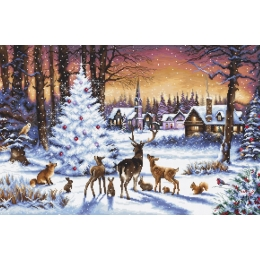 Christmas Wood / Рождественский лес - LETISTITCH - набор для вышивки крестом