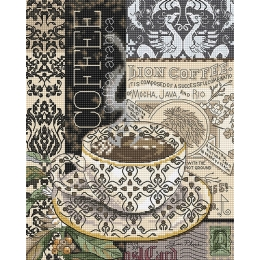 Набор для вышивки крестом - LETISTITCH - LETI 993 Lion Coffee
