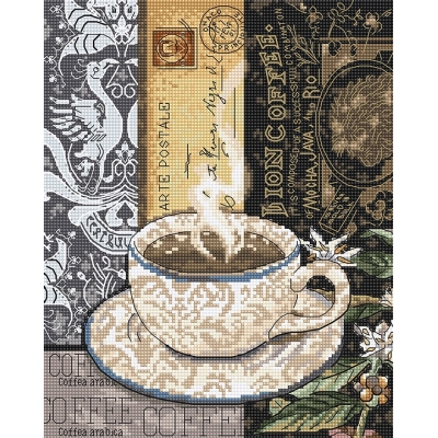 Набор для вышивки крестом - LETISTITCH - Lion Coffee LETI 994