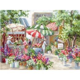 Набор для вышивки крестом - LETISTITCH - LETI 978 Цветочный рынок