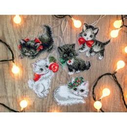 Набор для вышивки крестом - LETISTITCH - LETI 987 Рождественские котята
