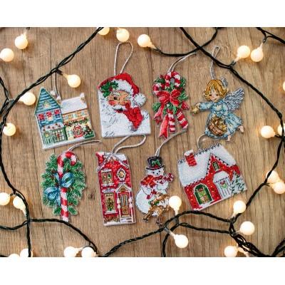Набор для вышивки крестом - LETISTITCH - L 8002 Рождественский набор игрушек №2
