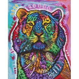 Набор для вышивки крестом - LETISTITCH - L 8003 Любопытный тигр