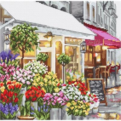 Набор для вышивки крестом - LETISTITCH - Цветочный магазин