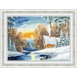 Зимняя речка - Золотое руно - набор для вышивки крестом