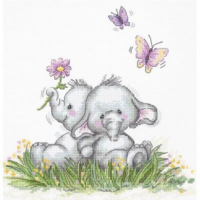 Набор для вышивки крестом Luca-S B1184 Пара слоников