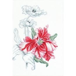 Набор для вышивки крестом - Luca-S - B2241 Красные тюльпаны