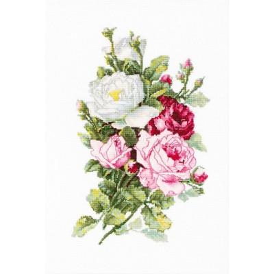 Набор для вышивки крестом - Luca-S - Букет из роз В2285