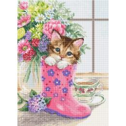 Набор для вышивки крестом - Luca-S - B2390 Симпатичный котёнок