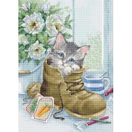 Набор для вышивки крестом - Luca-S - Маленький котенок B2391