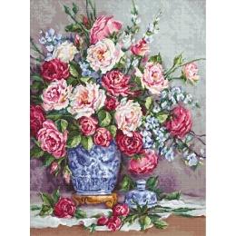 Вышивка гобеленовым швом - Luca-S - Ёе Величество - Розы