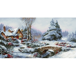 Набор для вышивки крестом - Luca-S - BU5002 Зимний пейзаж