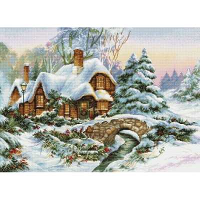 Зимний пейзаж BU5001 - Luca-S - набор для вышивки крестом