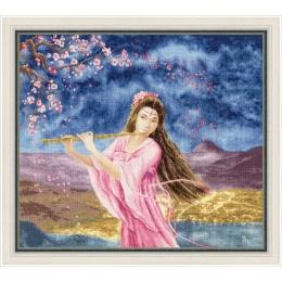 Набор для вышивки крестом - Золотое руно - МГ-023 Девушка с флейтой